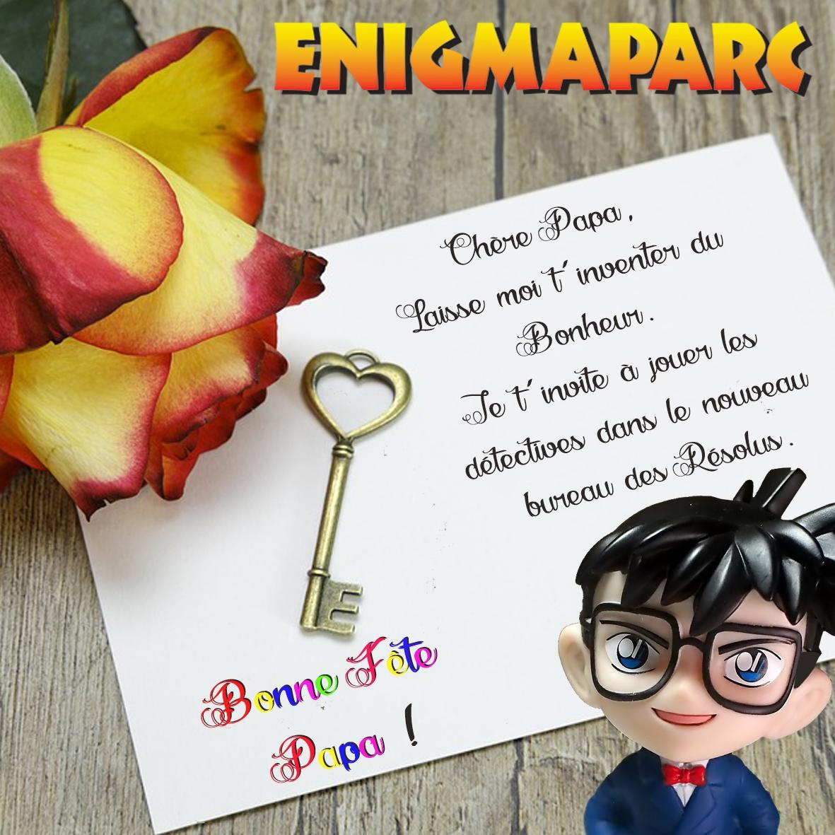 Offre Fête des Pères Enigmaparc 2019